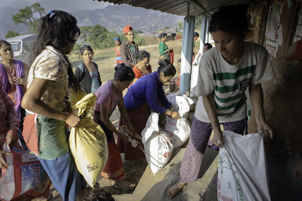 Women of Her Farm Care for Earthquake Survivors in Nepal