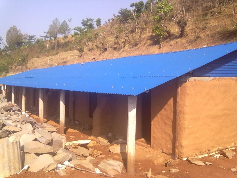 Housing for Women Nearly Complete at Her Farm Nepal