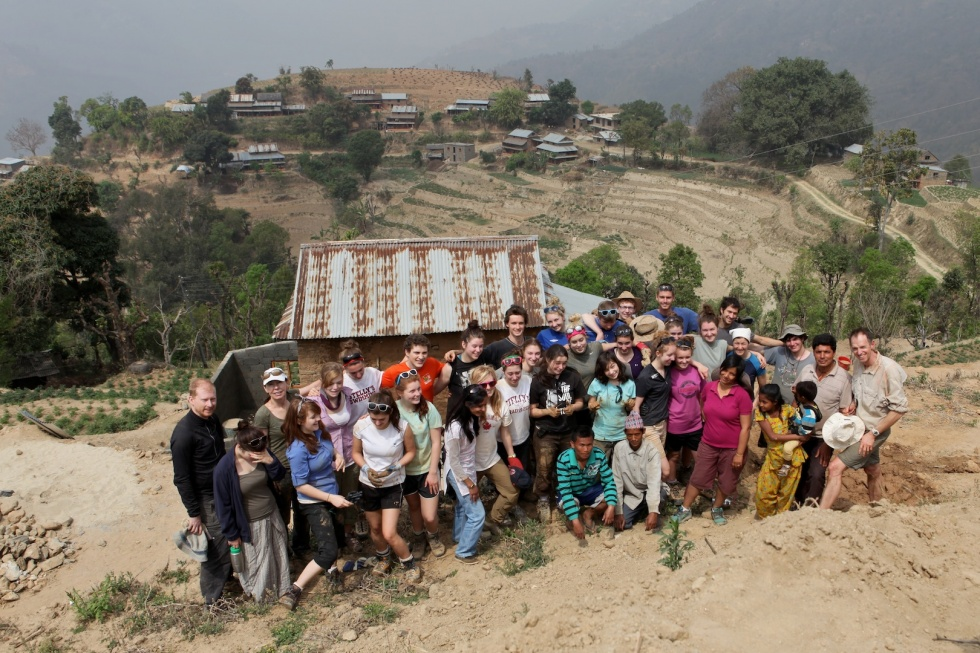 Canadian High School Group Volunteering in Nepal