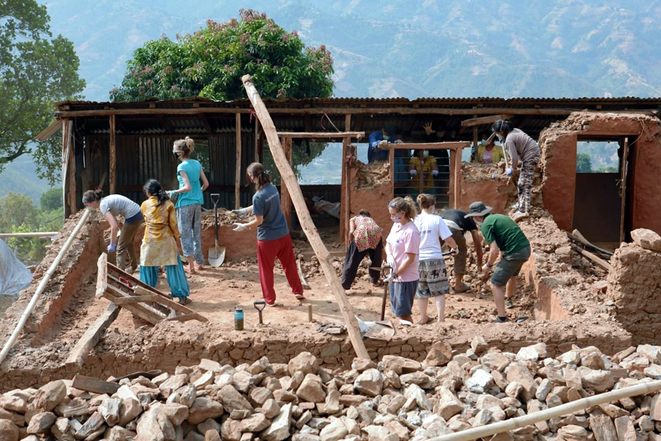 Volunteers Helping with Earthquake Recovery